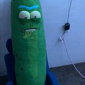 a pickle rick life size plushie
